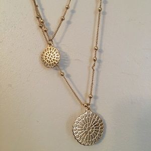 Jewelry - Gold flower of life design layered necklace